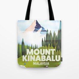 Mount Kinabalu Malaysia Tote Bag