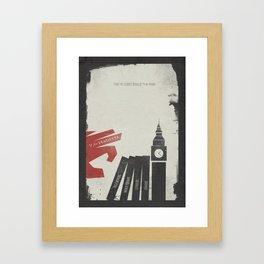 V Vendetta, alternative movie poster, graphic novel, Alan Moore, Natalie Portman, Guy Fawkes, S. Fry Framed Art Print