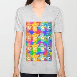 Rainbow Care Bears  Unisex V-Neck