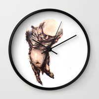 tooth Wall Clocks featuring Tooth by pFaza