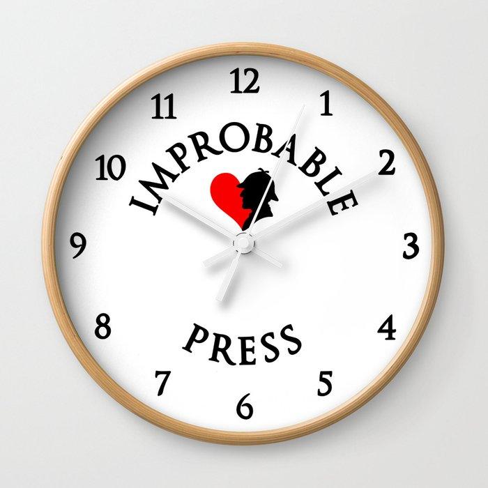 Improbable Press Wall Clock