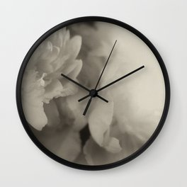 floating in monotones Wall Clock