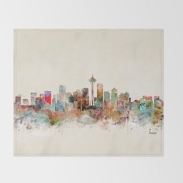 seattle washington Throw Blanket