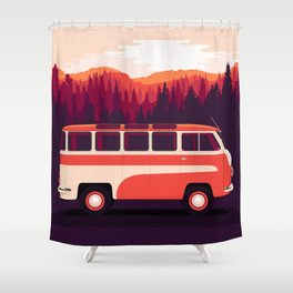 RAF-08 Spriditis (1958, Latvia, USSR) Shower Curtain