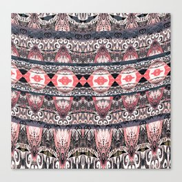 Contemporary High Definition Tribal Fabric Print Canvas Print