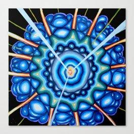 Blue Explosion - Andrew Kaminski Art - Acrylic Painting Canvas Print