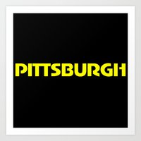 pittsburgh Art Prints featuring Pittsburgh by AE Interiors