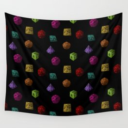 Rainbow Gaming Polyhedron Dice Wall Tapestry
