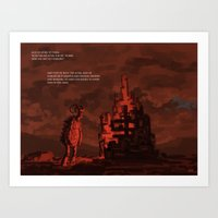 mythology Art Prints featuring Mythology e01p03 by Biram Ba