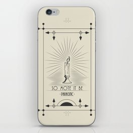 So Mote It Be (White Edition) iPhone Skin