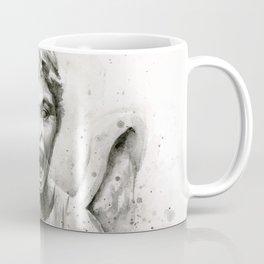Weeping Angel Watercolor Coffee Mug