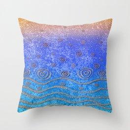 Ripples and Rain, Sea Throw Pillow