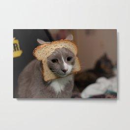 Sad Breadcat Metal Print