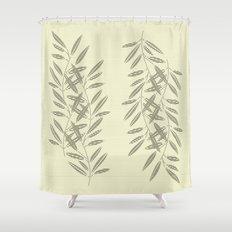 Linen Leaves Shower Curtain