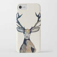 stag iPhone & iPod Cases featuring Stag by The Art Hutch