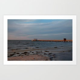 Bokeelia Pier at Sunset Art Print