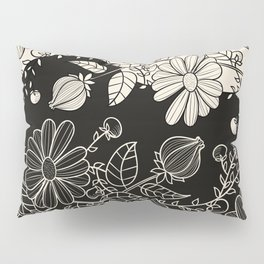 FLOWERS EBONY AND IVORY Pillow Sham
