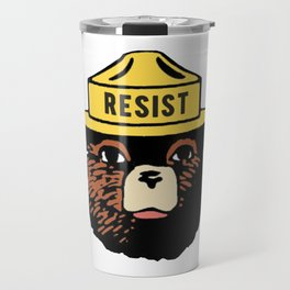 SMOKEY THE BEAR SAYS RESIST Travel Mug
