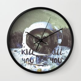 Dead Astronaut Space Wall Clock