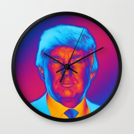 Pop Art President Trump Wall Clock