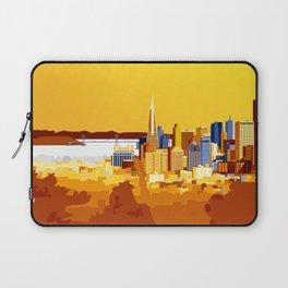San Francisco on a sunny day Laptop Sleeve