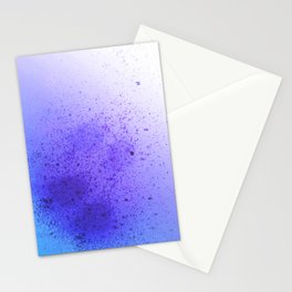 Vibrant Lavender and Sky Blue Spray Paint Splatter Stationery Cards
