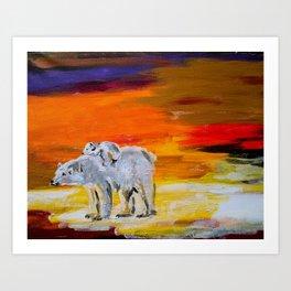 Polar Bears Surviving Art Print