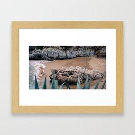 Beach Cascais Framed Art Print