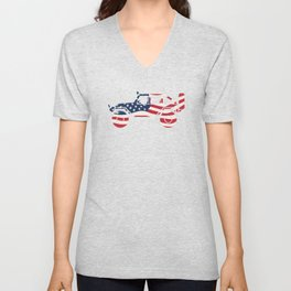 American Patriotic Off Road 4x4 Unisex V-Neck