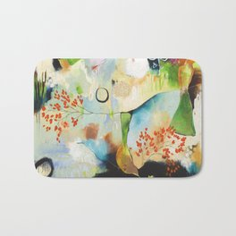 """Rainwash"" Original Painting by Flora Bowley Bath Mat"
