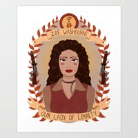 heymonster Art Prints featuring Zoë Washburne by heymonster