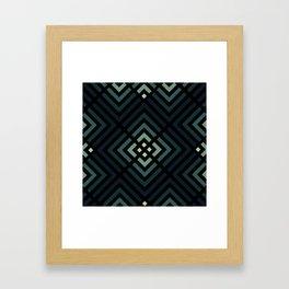 Navy Ombre Pattern Framed Art Print