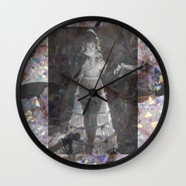 Gems and Gauze Wall Clock