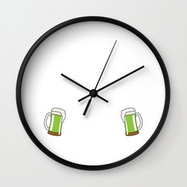 Official St. Patrick's Day Designated Drunk T-Shirt Wall Clock