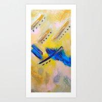 Mr. Bluebird on my shoulder, Art Print