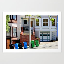 That Gray Plastic Chair - Garbage Day Art Print