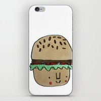 burger iPhone & iPod Skins featuring Burger by Tuesday Alissia