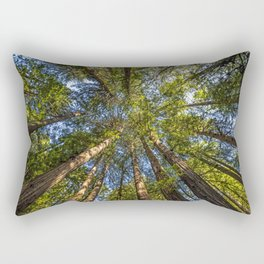 Coastal Redwoods aka Coast Redwood and California Redwood (Sequoia sempervirens) Rectangular Pillow