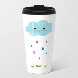 Rain Cloud Metal Travel Mug