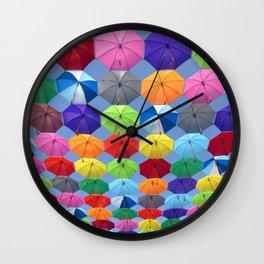 umbrella new color colour life art vibe 2018 Wall Clock