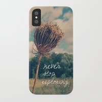 never stop exploring iPhone & iPod Cases featuring Never Stop Exploring II by Sandra Arduini