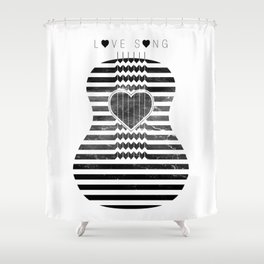 VISION CITY - LOVE SONG Shower Curtain