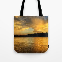 when the light turns to gold... Tote Bag