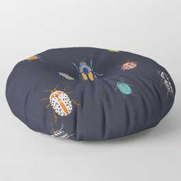 Beautiful bugs Floor Pillow