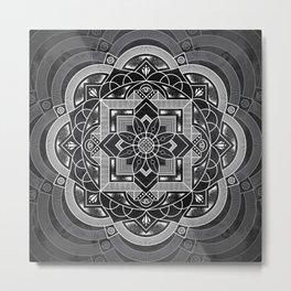 Composure Mandala Metal Print