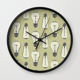 Lightbulb Moment in Mustard Wall Clock