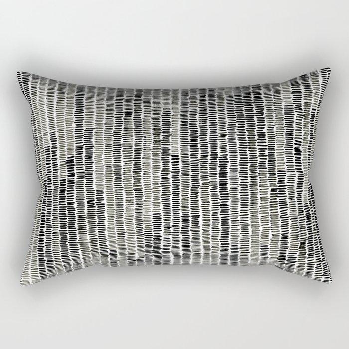 Watercolour Lines Rectangular Pillow
