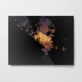 Explosive Sunset Metal Print