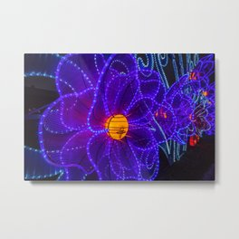 magical flower lights Metal Print