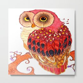 Day Owl Metal Print